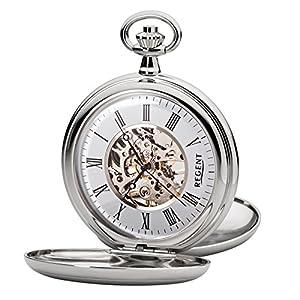 Regent – Taschenuhr – Mechanisch – Silber – Skelett – P93