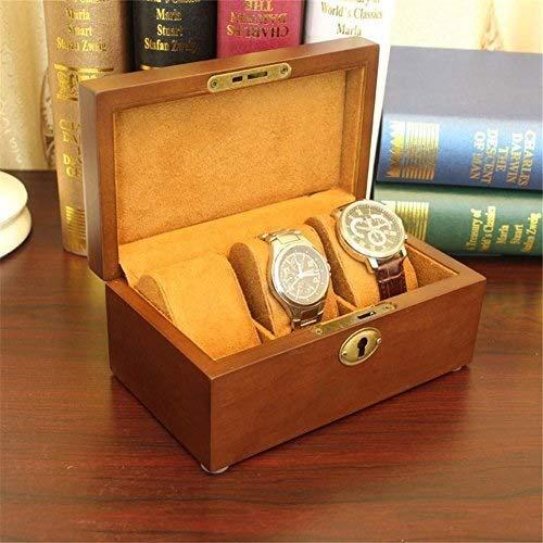 MGE Uhr Aufbewahrungsbox, Europäische Vintage Holz Dachfenster Uhrenbox DREI Nur Uhr Display Box Schmuck Armband Box Aufbewahrungsbox Geschenk