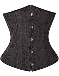 72aed47b4e Sweetlover Bustier Corset Women Sexy Gothic Lace Up Boned Overbust Waist  Trainer Floral Embroidery Lingerie G