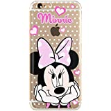6 6S TPU Funda Gel Transparente Carcasa Case Bumper de Impactos y Anti-Arañazos Espalda Cover, Cartoon, Dibujos animados, Disney Special Colección Collection, Minnie Mouse Lunar, iPhone 6 6S