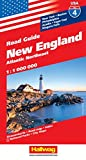 Hallwag USA Road Guide 04 New England 1 : 1.000.000: Atlantic Northeast (Hallwag Strassenkarten, Band 4)