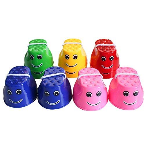Dosige Kinder Stelzen Topfstelzen Kinder joey Kinderturnen Turnen - 1 Paar Farbe zufällige | Laufstelzen