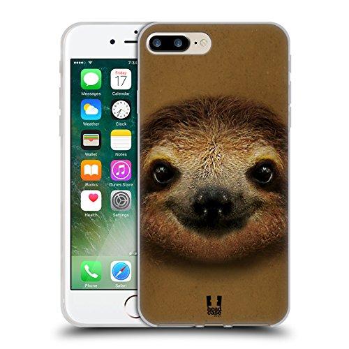 Head Case Designs Lachendes Kleine Faultier Tiergesichter 2 Soft Gel Hülle für Apple iPhone 6 / 6s Lachendes Kleine Faultier