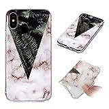 Misstars Coque en Silicone pour iPhone X Marbre, Ultra Mince TPU Souple Flexible...