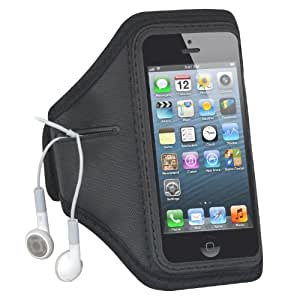 TRIXES Black Gym Outdoor Sport Running Arm Band Case for iPhone 5