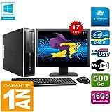 HP PC Compaq Pro 6300 SFF I7-3770 16Go 500Go Graveur DVD WiFi W7 Ecran 17'