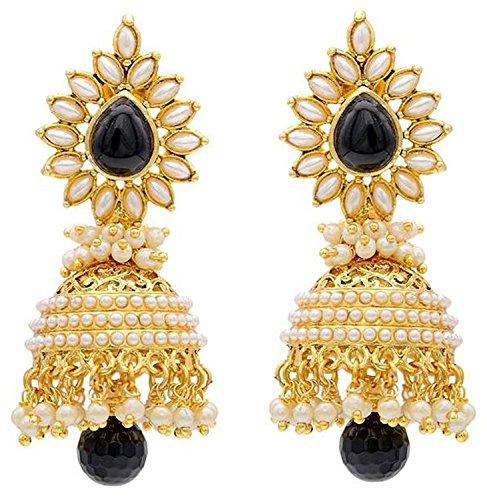 Aashiqui 2 Earring - Fadhut Bollywood Inspired Jhumka Earring for Women (Black)
