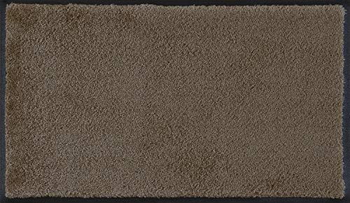 wash+dry Fußmatte Taupe 75x120 cm