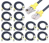 DAHSHA Pack of 12 Cat 6 Ethernet Cable RJ45 LAN Cable CAT6 Network
