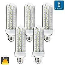 Aigostar - Pack de 5 bombillas led t3 4u, 15w, casquillo gordo e27, 1200 lumen, luz calida 3000k