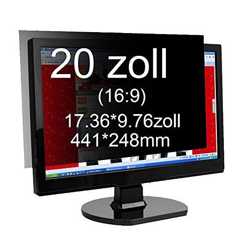 Xianan 20 zoll Widescreen 16:9 Blickschutzfilter Blickschutzfolie Privacy Screen Folie Blickschutz Sichtschutz - Computer 20 Zoll Monitor