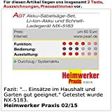 AGT Professional Stichsäge: Akku-Säbelsäge AW-18.sl, GS-zertifiziert, 18 V (ohne Akku) (Astsäge)