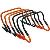 """Precision Training TR564 - Obstáculos de entrenamiento de paso ajustables de 6"""" a 12"""", color naranja/negro, talla única, conjunto de 6 piezas"""