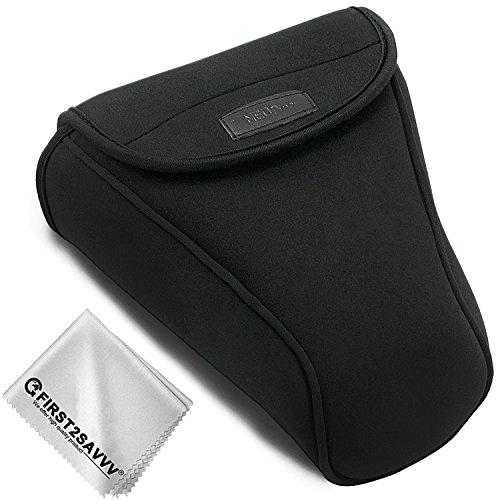 Nero Custodia Fondina in Nylon da Trasporto per SLR per Nikon D7500 D7200 D7100 D7000 D750 D500 D90 D80 D70 with 18-105, 18-135,18-140,18-200 mm Lens QSL-SLRL-N-A01G11