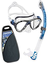 Cressi ELITE, Masque et Tuba Adulte Plongée Snorkeling - Kits de Randonnée Aquatique