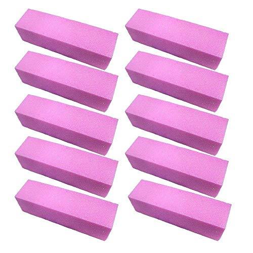 Buffing Block-datei (Clarashop Buffing Polishing Buffing Block Datei Maniküre Pediküre für Nail Art 10Pcs Pink)