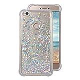 Coque Transparent Huawei P8 Lite(2017) Case,Rosa SchleifeSilicone Gel Etui de Protection Portable Téléphone Pochette...