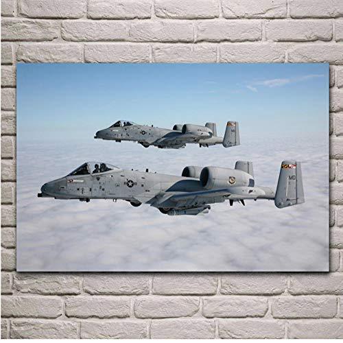 gaowei Militärische Angreifer Thunderbolt Flugzeuge Poster Wohnzimmer Home Wand dekorative Leinwand Kunstdruck Drucke 50x70cm_2 -