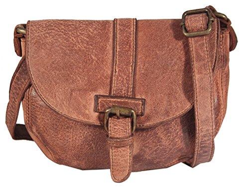 9233bc6725ffa Pastorano - kleine Umhängetasche Satteltasche Leder Vintage Used-Look  Country MEDITERRAN BAG Damen Schultertasche Ausgehtasche