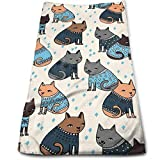 Free-shipping Ugly Cat Christmas Microfiber Travel & Sports Towel, Ultra Compact, Lightweight, Absorbent and Fast Drying Towels, Ideal for Gym, Beach,Fitness, Exercise, Yoga
