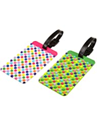 Travelon Dots Set Of 2 Luggage Tags