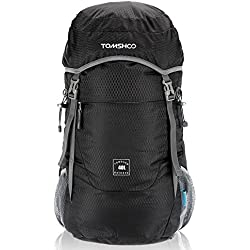 TOMSHOO 40L Mochila Plegable Impermeable Bolsa Ultra Ligero de Nylon para Viajar Trekking Al Aire Libre
