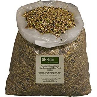1 x 20kg Wild Bird Seed - Feed | Sunflower Rich Premium Deluxe Blend | High Energy Low Mess Food Mix Elixir Gardens 1 x 20kg Wild Bird Seed – Feed | Sunflower Rich Premium Deluxe Blend | High Energy Low Mess Food Mix 51KqY1Lf9fL
