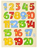 Skillofun Wooden 1-20 Number Shape Tray ...