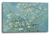 Vincent van Gogh - Mandelbaumzweige (1890), 120 x 80 cm (weitere Größen verfügbar), Leinwand auf Keilrahmen gespannt und fertig zum Aufhängen, hochwertiger Kunstdruck aus deutscher Produktion (Alte Meister bis Moderne Kunst). Stil: Impressionismus, Expressionismus