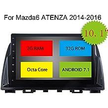 "topnavi 8Core 2GB 32GB 10.1""Android 7.1para Mazda 6Atenza CX-5201420152016Car Stereo Autoradio GPS navegación 1024* 600pantalla táctil USB SD Bluetooth Radio de coche DAB apoyo WIFI 3G Teléfono espejo AUX Subwoofer Audio AV Out SWC Cam-in OBD2DAB +"