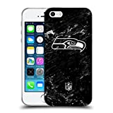 Head Case Designs Offizielle NFL Marmor 2017/18 Seattle Seahawks Soft Gel Hülle für iPhone 5 iPhone 5s iPhone SE