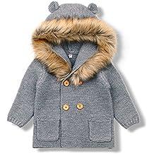 MiMiXiong Cárdigan Suéter de Punto para Bebés Chaquetas y Abrigos ...