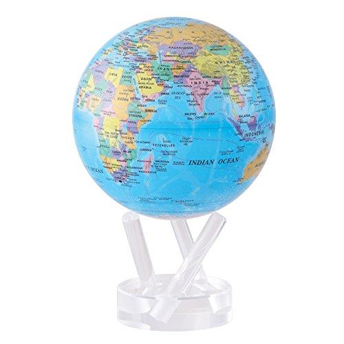 Mova Design Mg-45-Boe 4,5 Zoll Durchmesser Globus In Blau Mit Politischer Karte