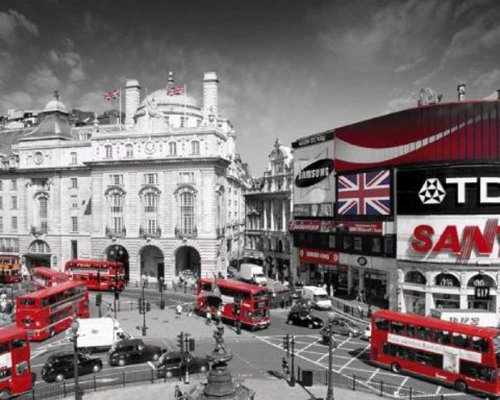 empireposter - London - Piccadilly Circus - Größe (cm), ca. 50x40 - Mini-Poster, NEU - -