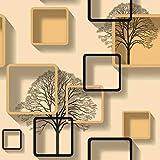 Cadre de cadre photo moderne simple salon TV fond mur papier carré lattice chambre...