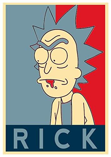 Instabuy Posters Rick and Morty Propaganda Rick - A3 (42x30 cm)