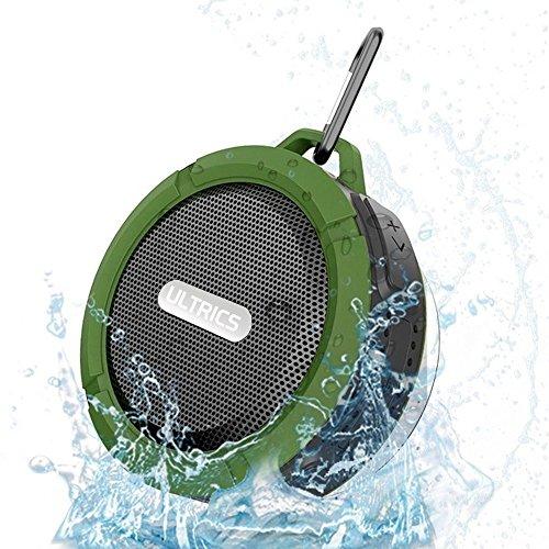 ULTRICS® Altavoz Bluetooth, Altavoz portátil wirezoll para exteriores / ducha con IPX4 impermeable 4.0 Tecnología Construido en micrófono manos libres con ventosa para iPhone Android PC- Verde