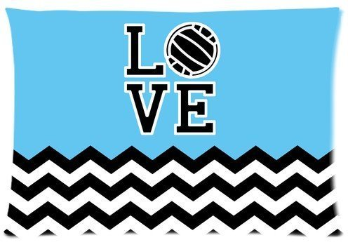 DEFFWBb Mina-shopI Love Volleyball Pillow Cases Cushion Covers 16x24inch, one Side Print