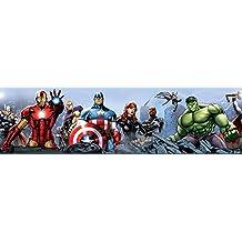 AG Diseño WBD 8087Marvel Avengers, cenefa adhesiva, 0,10x 5m–1rollo, papel, Colorful, 500x 10cm
