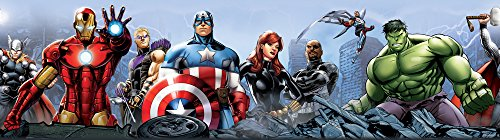 AG Design WBD 8087 Marvel Avengers, selbstklebende Bordüre, 0,10x5 M - 1 Rolle, Papier, Colorful, 500 x 10 cm