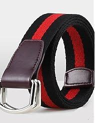 AQAQ Hombre Lienzo Cinturón De Cintura Vintage / Fiesta / Trabajo / Casual Todas Las Temporadas , Red , One-Size