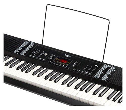 Funkey 00038126 61-Edition Keyboard (128-Sound, 128-Rhythmen, 10-Demo Song, Netzteil, Notenständer) schwarz - 2