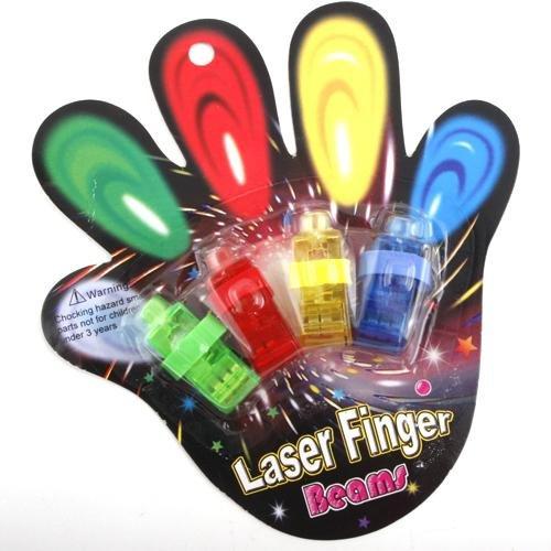 calistouk Fingerring Mitgebsel LED-Fingerlichter Leuchtringe Finger 4Stück (Led Finger Licht)