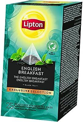 Lipton Exclusive Selection Thé Noir English Breakfast 25 sachets pyramides - Lot de 2