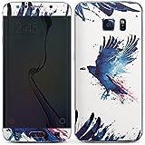 Samsung Galaxy S6 Edge Case Skin Sticker aus Vinyl-Folie Aufkleber Vogel Kunst Krähe