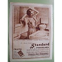 Antigua Hoja Publicidad - Old Sheet of Advertising : COMPAÑÍA ROCA - RADIADORES - Standard de Porcelna. Baño