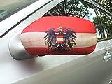 2x Auto Spiegel Rückspiegel Car Bikini WM 2018 Österreich Fahne Flagge Flag