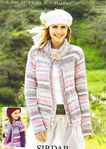Sirdar Damen und Mädchen Strickjacken Muster 9209Chunky -