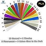 3D Druckstift Filament PLA – VICTORSTAR Stock Filament Nachfüllungen 20 Farben, 200 Meter (656ft) / Einschließen Farben 1 Holz + 2 im Dunkeln Leuchten + 5 Fluoreszierend / Durchmesser 1,75 mm / Pflanzenharzmaterial und Kein Geruch Besser für die Gesundheit
