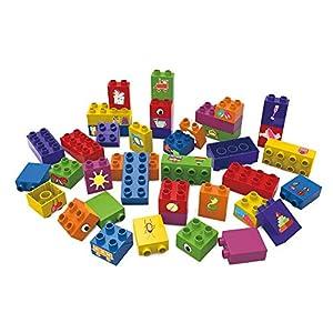 BIOBUDDI Learning to Build 40 pcs 40pieza(s) - Bloques de construcción de Juguete (Multicolor, 40 Pieza(s), Plaza, Imagen, Niño, Niño/niña)